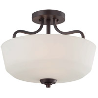 Savoy House Charlton 2 Light Semi-Flush in English Bronze 6-6223-2-13