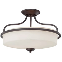 Charlton 3 Light 17 inch English Bronze Semi-Flush Mount Ceiling Light