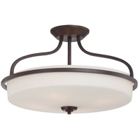 Charlton 4 Light 21 inch English Bronze Semi-Flush Mount Ceiling Light