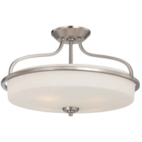 Charlton 4 Light 21 inch Satin Nickel Semi-Flush Mount Ceiling Light