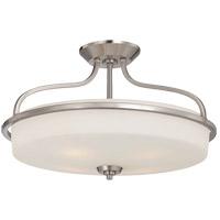 Savoy House 6-6225-4-SN Charlton 4 Light 21 inch Satin Nickel Semi-Flush Mount Ceiling Light, Extra Large
