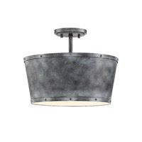 Savoy House 6-6605-3-116 Dover 3 Light 15 inch Farmhouse Tin Semi-Flush Mount Ceiling Light