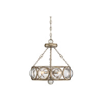 Warwick 3 Light 18 inch Brittania Gold Semi-Flush Mount Ceiling Light