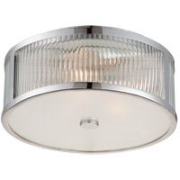 Lombard 3 Light 15 inch Polished Chrome Flush Mount Ceiling Light in Clear