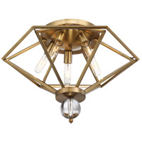 Savoy House Tekoa 5 Light Semi-Flush Mount in Warm Brass 6-682-5-322