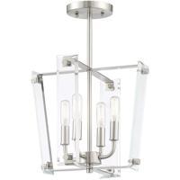 Savoy House 6-7110-4-SN Everett 4 Light 13 inch Satin Nickel Semi-Flush Ceiling Light