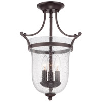 Savoy House 6-7133-3-13 Trudy 3 Light 12 inch English Bronze Semi-Flush Mount Ceiling Light