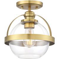 Savoy House 6-7200-1-322 Pendleton 1 Light 9 inch Warm Brass Semi-Flush Ceiling Light