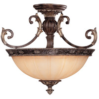Savoy House Grenada 3 Light Semi-Flush in Moroccan Bronze 6-751-3-241