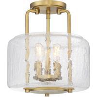 Savoy House 6-7790-3-322 Avalon 3 Light 11 inch Warm Brass Semi-Flush Ceiling Light
