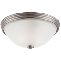 Signature 2 Light 11 inch Satin Nickel Flush Mount Ceiling Light