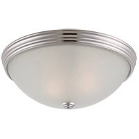 Signature Polished Nickel 13 inch Flush Mount Glass