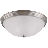 Signature 2 Light 13 inch Satin Nickel Flush Mount Ceiling Light