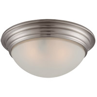 Signature Satin Nickel 11 inch Flush Mount Glass