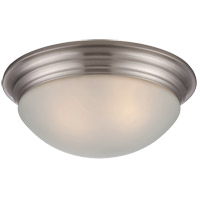 Signature Satin Nickel 13 inch Flush Mount Glass