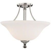Savoy House Jemmy 2 Light Semi-Flush  in Polished Nickel 6-8002-2-109 photo thumbnail