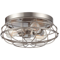 Scout 3 Light 15 inch Satin Nickel Flush Mount Ceiling Light