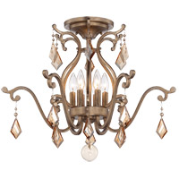 Rothchild 6 Light 24 inch Oxidized Silver Semi-Flush Mount Ceiling Light