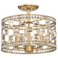 Savoy House 6-842-3-33 Clarion 3 Light 16 inch Gold Bullion Semi-Flush Ceiling Light