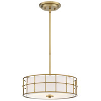 Savoy House 6-8502-3-322 Hayden 3 Light 15 inch Warm Brass Convertible Semi-Flush Mount Ceiling Light