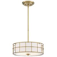 Savoy House 6-8502-3-322 Hayden 3 Light 15 inch Warm Brass Semi-Flush Ceiling Light
