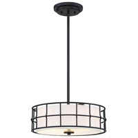 Savoy House 6-8502-3-89 Hayden 3 Light 15 inch Matte Black Semi-Flush Ceiling Light