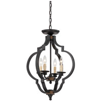 Kelsey 4 Light 19 inch Durango Semi-Flush Ceiling Light, Convertible