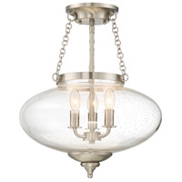 Savoy House 6-9040-3-SN Lowry 3 Light 16 inch Satin Nickel Semi-Flush Mount Ceiling Light