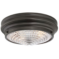 Benton 2 Light 13 inch English Bronze Flush Mount Ceiling Light