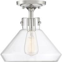 Savoy House 6-9137-1-109 Walpole 1 Light 11 inch Polished Nickel Semi-Flush Mount Ceiling Light