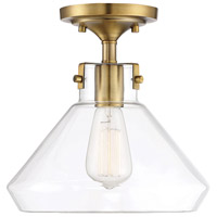Savoy House 6-9137-1-322 Walpole 1 Light 11 inch Warm Brass Semi-Flush Mount Ceiling Light