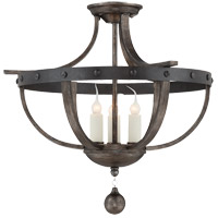 Savoy House 6-9540-3-196 Alsace 3 Light 20 inch Reclaimed Wood Semi-Flush Mount Ceiling Light  alternative photo thumbnail