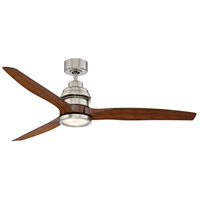 Savoy House 60-5025-3KO-SN La Salle 60 inch Satin Nickel with Koa Blades Ceiling Fan
