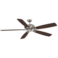 Wind Star 68 inch Brushed Pewter with Chestnut Blades Ceiling Fan