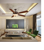 Savoy House 68-227-5WA-129 Wind Star 68 inch Espresso with Walnut Blades Ceiling Fan alternative photo thumbnail
