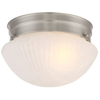 Savoy House 400-SN Signature 1 Light 7 inch Satin Nickel Flush Mount Ceiling Light alternative photo thumbnail