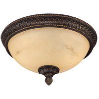 Knight 2 Light 14 inch Antique Copper Flush Mount Ceiling Light