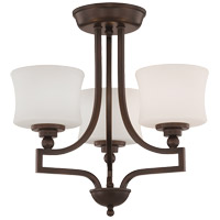 Savoy House 6P-7213-3-13 Terrell 3 Light 18 inch English Bronze Semi-Flush Mount Ceiling Light alternative photo thumbnail