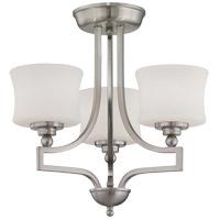 Savoy House 6P-7213-3-SN Terrell 3 Light 18 inch Satin Nickel Semi-Flush Ceiling Light