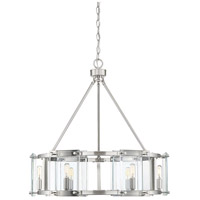 Savoy House 7-0600-6-SN Prescott 6 Light 28 inch Satin Nickel Pendant Ceiling Light