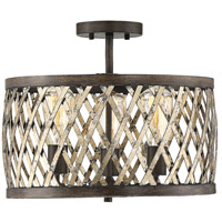 Savoy House 7-0800-3-124 Sandoval 3 Light 16 inch Fiesta Bronze Semi-Flush Mount Ceiling Light, Convertible