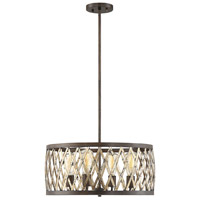 Savoy House 7-0803-4-124 Sandoval 4 Light 20 inch Fiesta Bronze Pendant Ceiling Light