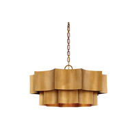 Shelby 6 Light 30 inch Gold Patina Pendant Ceiling Light