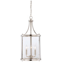 Savoy House Penrose 3 Light Foyer Lantern in Polished Nickel 7-1040-3-109