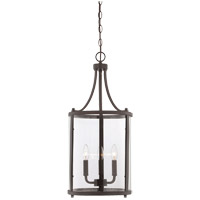 Penrose 3 Light 12 inch English Bronze Foyer Lantern Ceiling Light, Small