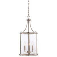 Savoy House 7-1040-3-SN Penrose 3 Light 12 inch Satin Nickel Foyer Lantern Ceiling Light, Small