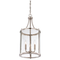 Savoy House 7-1040-3-SN Penrose 3 Light 12 inch Satin Nickel Foyer Lantern Ceiling Light, Small alternative photo thumbnail