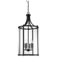 Savoy House 7-1041-6-BK Penrose 6 Light 16 inch Black Foyer Lantern Ceiling Light