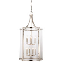 Savoy House 7-1042-12-109 Penrose 12 Light 20 inch Polished Nickel Foyer Lantern Ceiling Light, Large