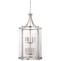 Savoy House 7-1042-12-SN Penrose 12 Light 20 inch Satin Nickel Foyer Lantern Ceiling Light, Large